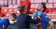 Sergio Busquets taken to hospital after horror head clash in Barcelona game