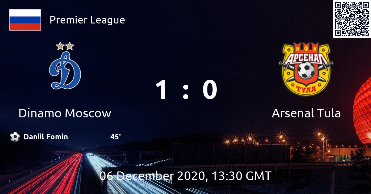 Dinamo Moscow V Arsenal Tula Match Preview Stats And Result Extbet